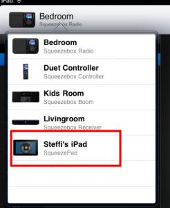squeezebox playback on iPad